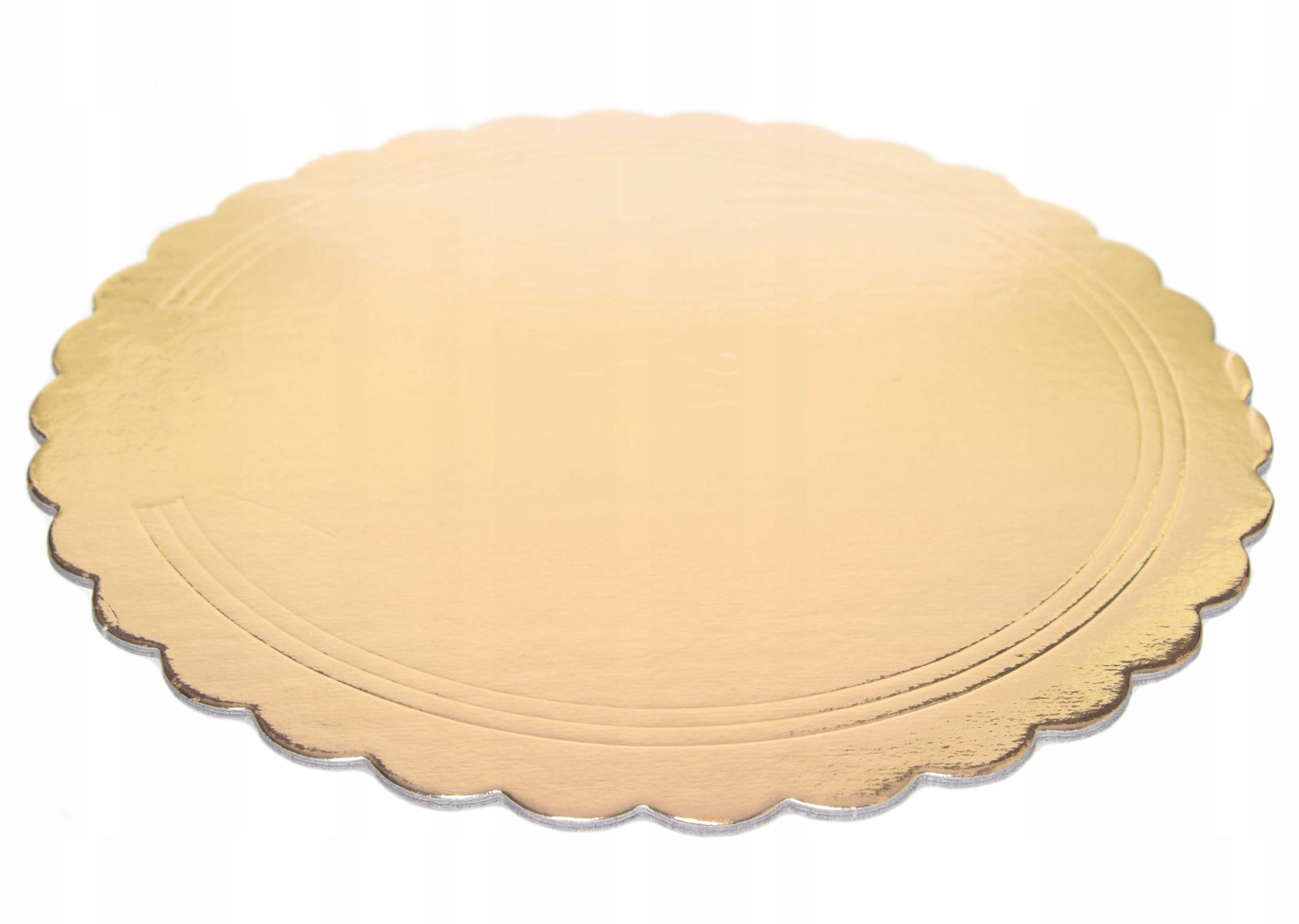 Гофрированная основа для торта - черно-золотая, 24 см