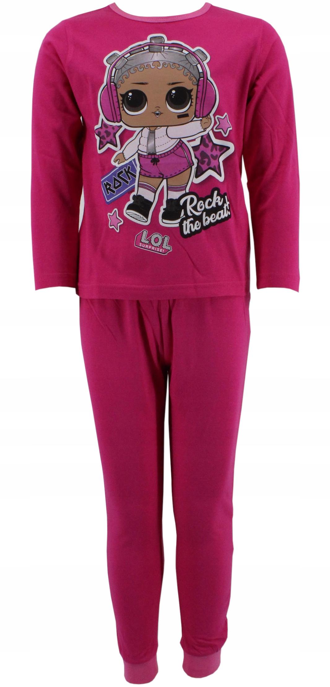 Bavlnené pyžamo LOL 146-152 fuchsiová bábika