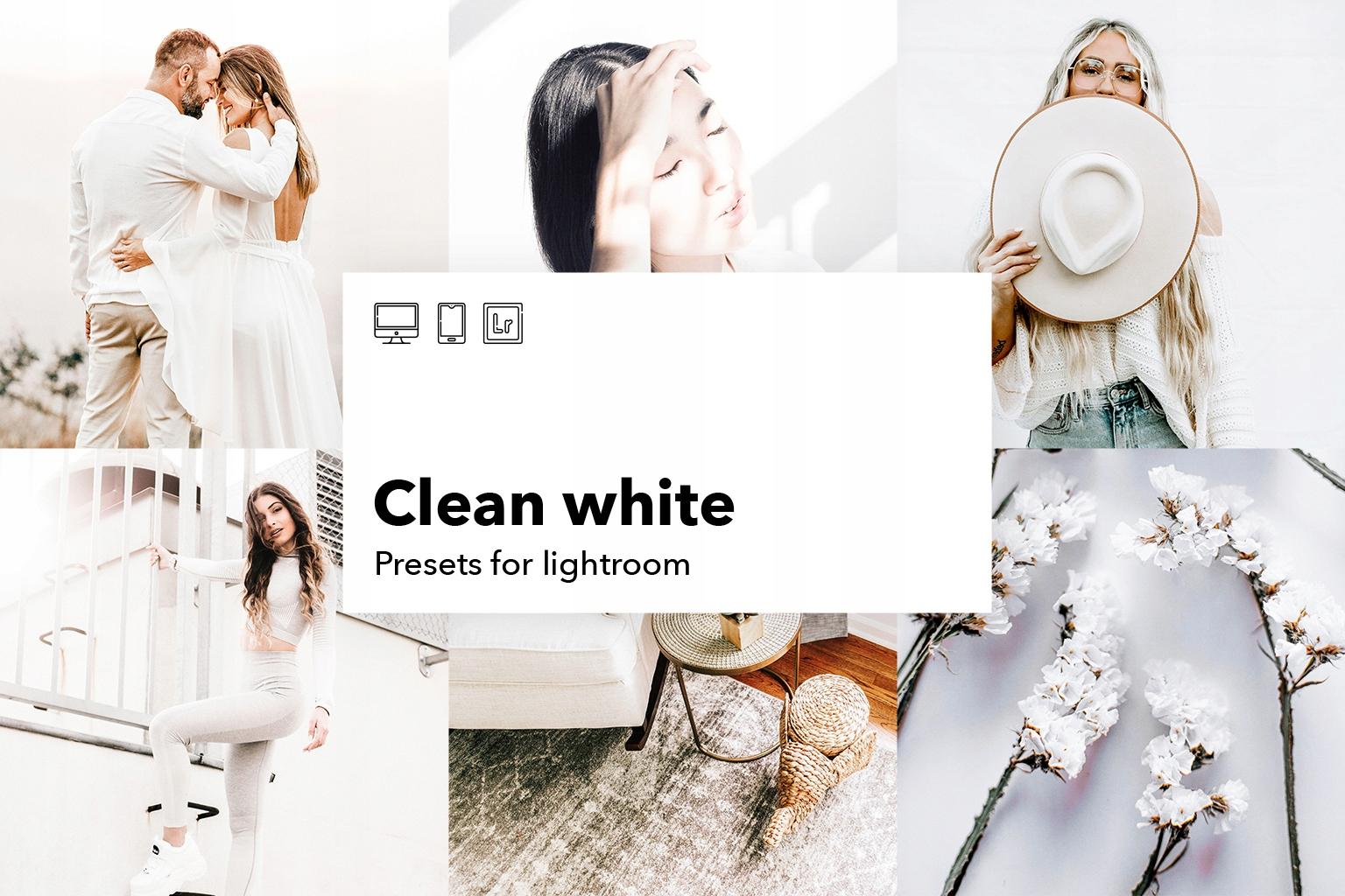 Item Presets lightroom - 5 filters in Clean White