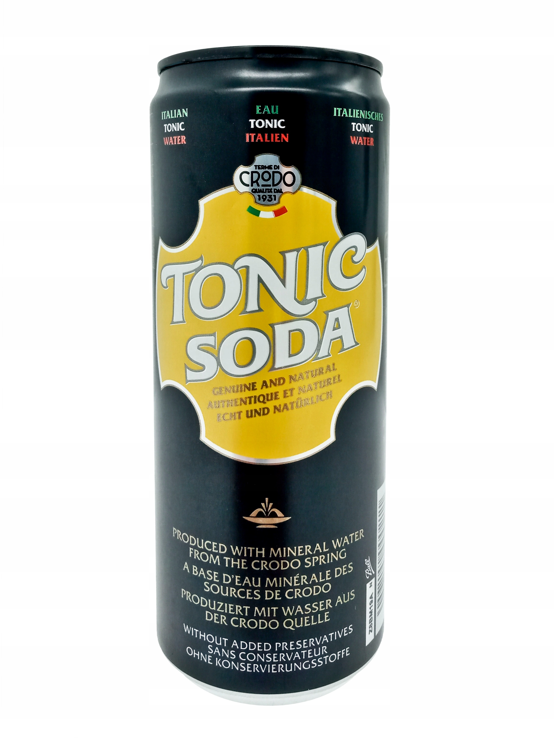 Напиток TONIC SODA 0,33л CRODO Италия освежающий