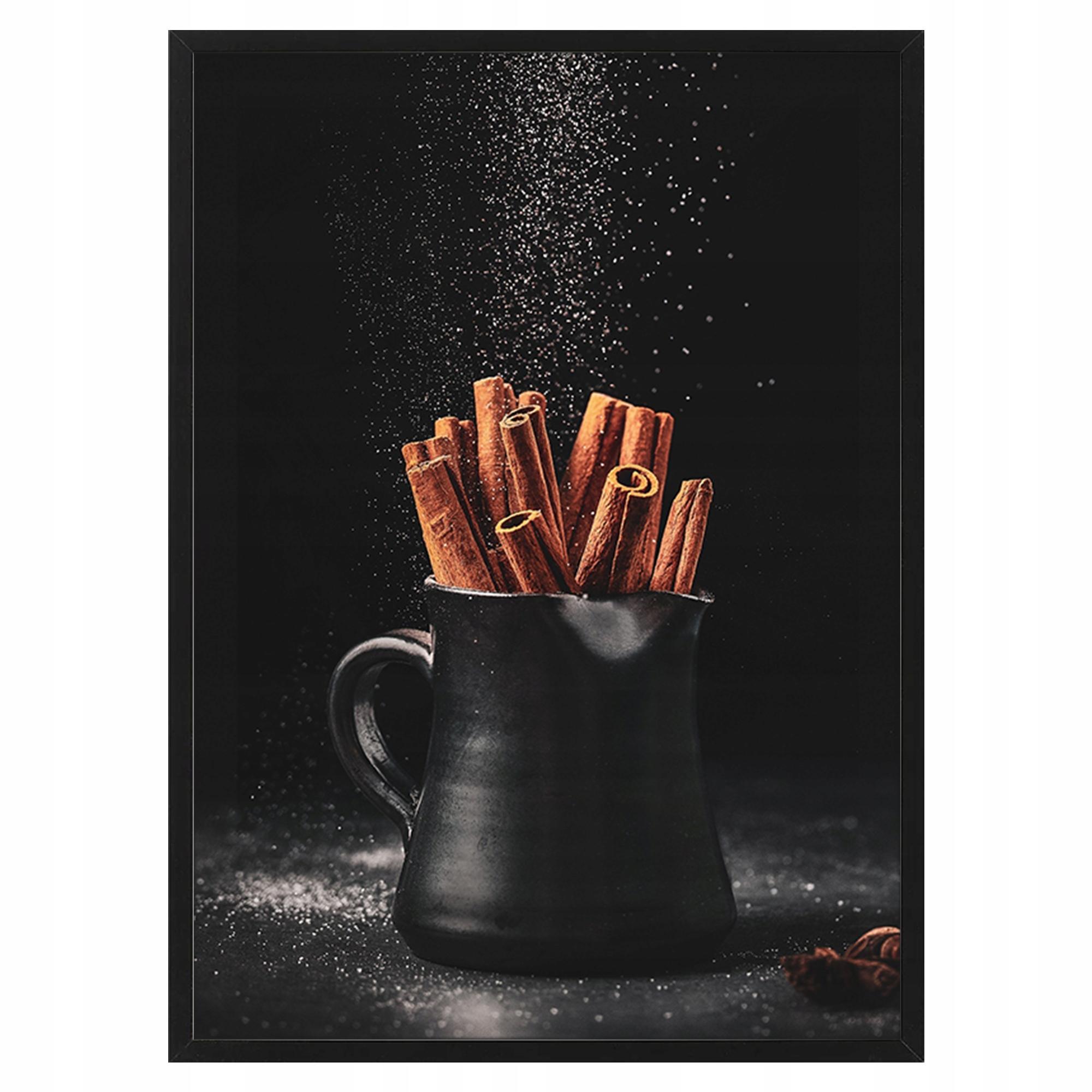 Plakat obraz w ramie 40x50 cm DO KUCHNI CYNAMON