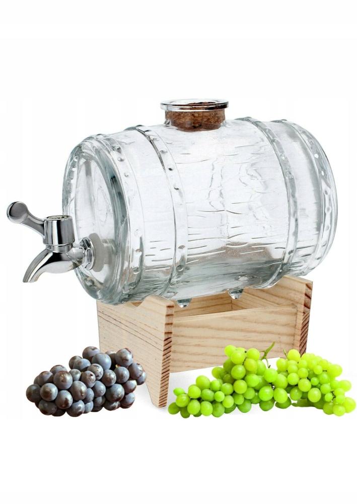 JAR бочка с краном стеклянная банка для вина 1 л