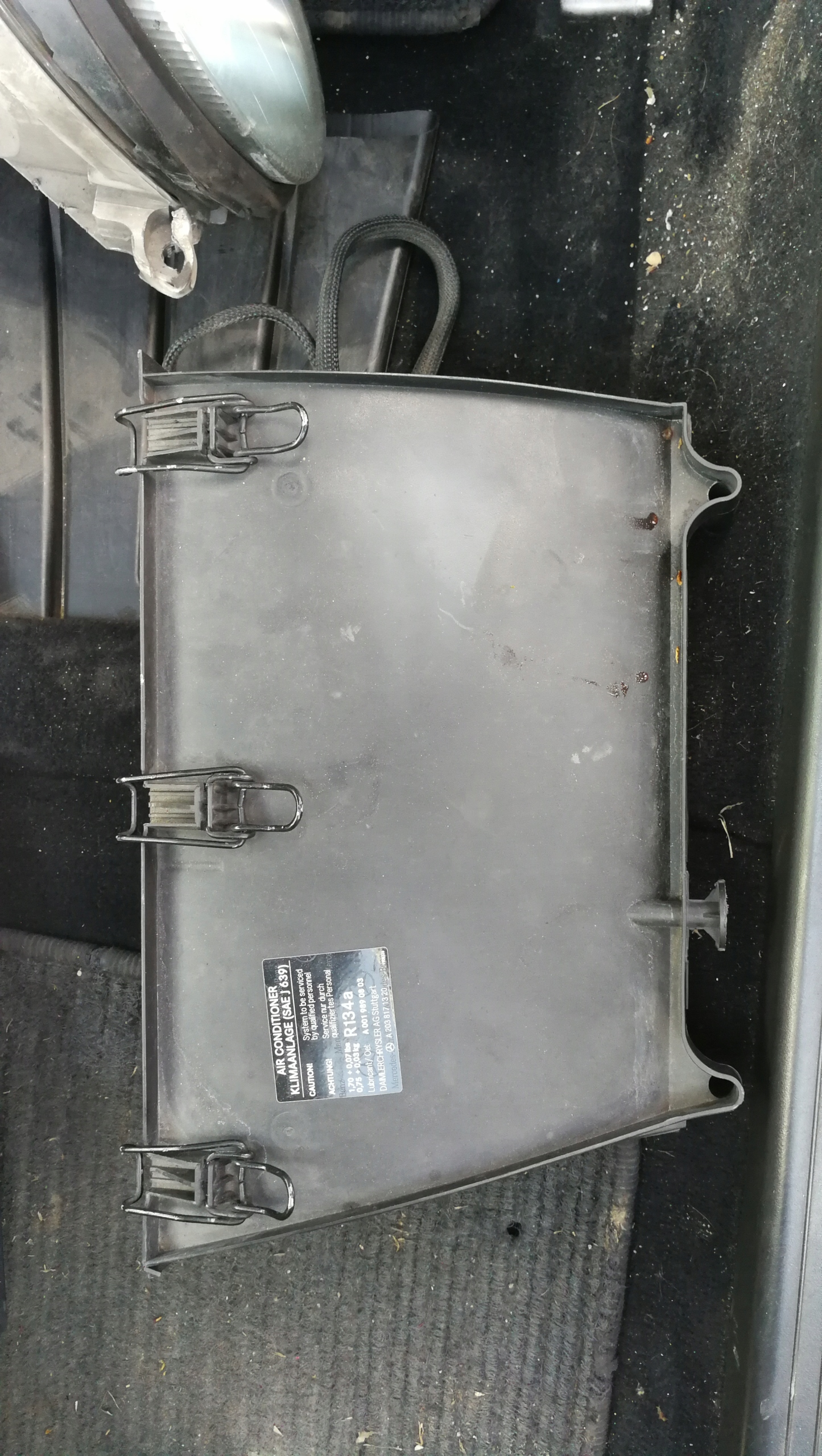 mercedes w203 корпус фильтра салонного