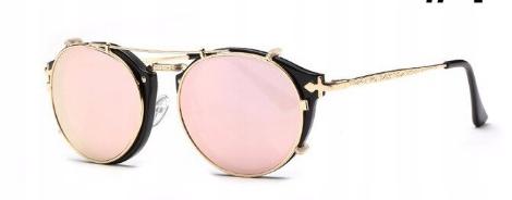 SteamPunk okuliare Vintage Retro zlaté - 4