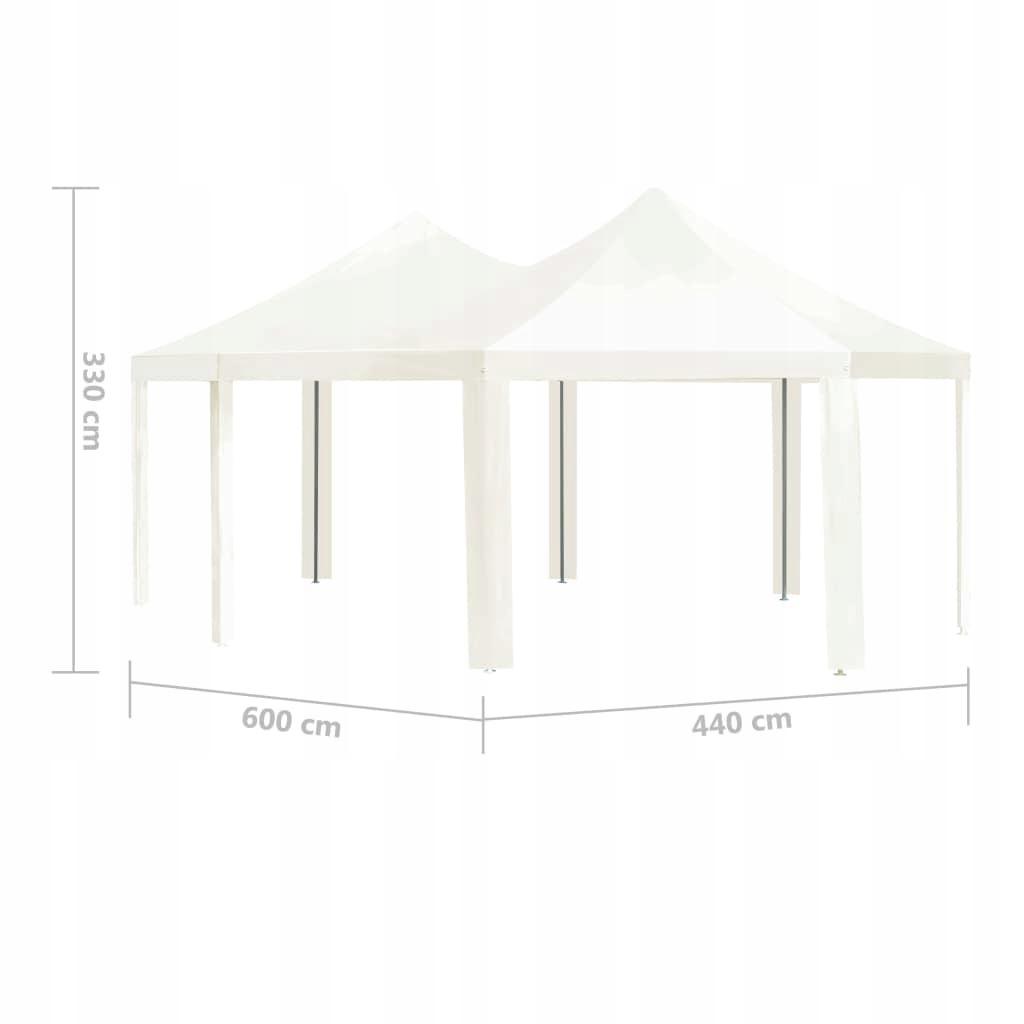 Садова альтанка, кремовий, 600 x 440 x 330 см. Вага виробу в індивідуальній упаковці 46,32 кг