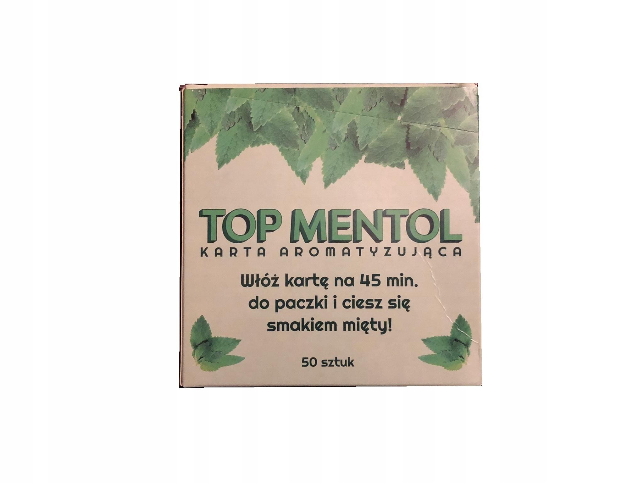 Мята Вкусовая карта TOP MENTTOL 50 шт.