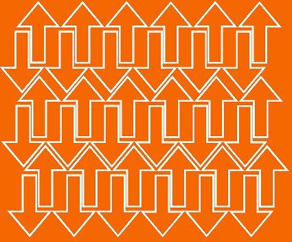 Naklejka strzałki 5x3cm 72szt fv pomarańczowy