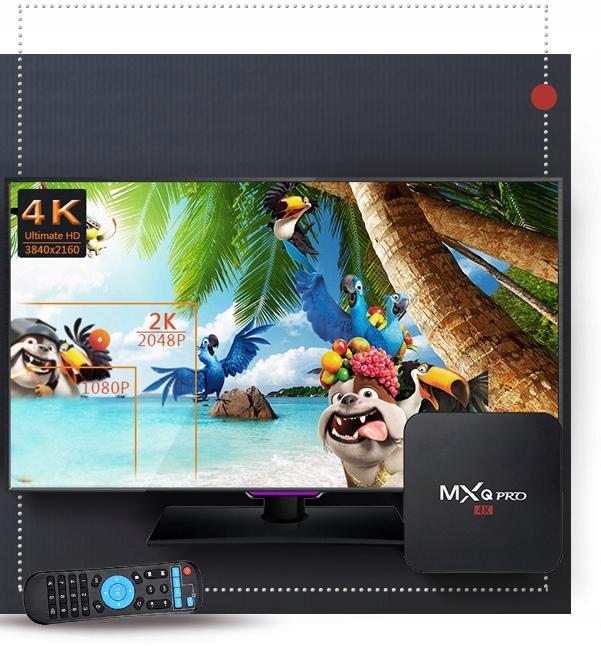 SMART TV-BOKS MXQ PRO + TV-BOKS WIFI HDMI 1/8 ANDROID Lydformater Lyd CD MP3 WMA