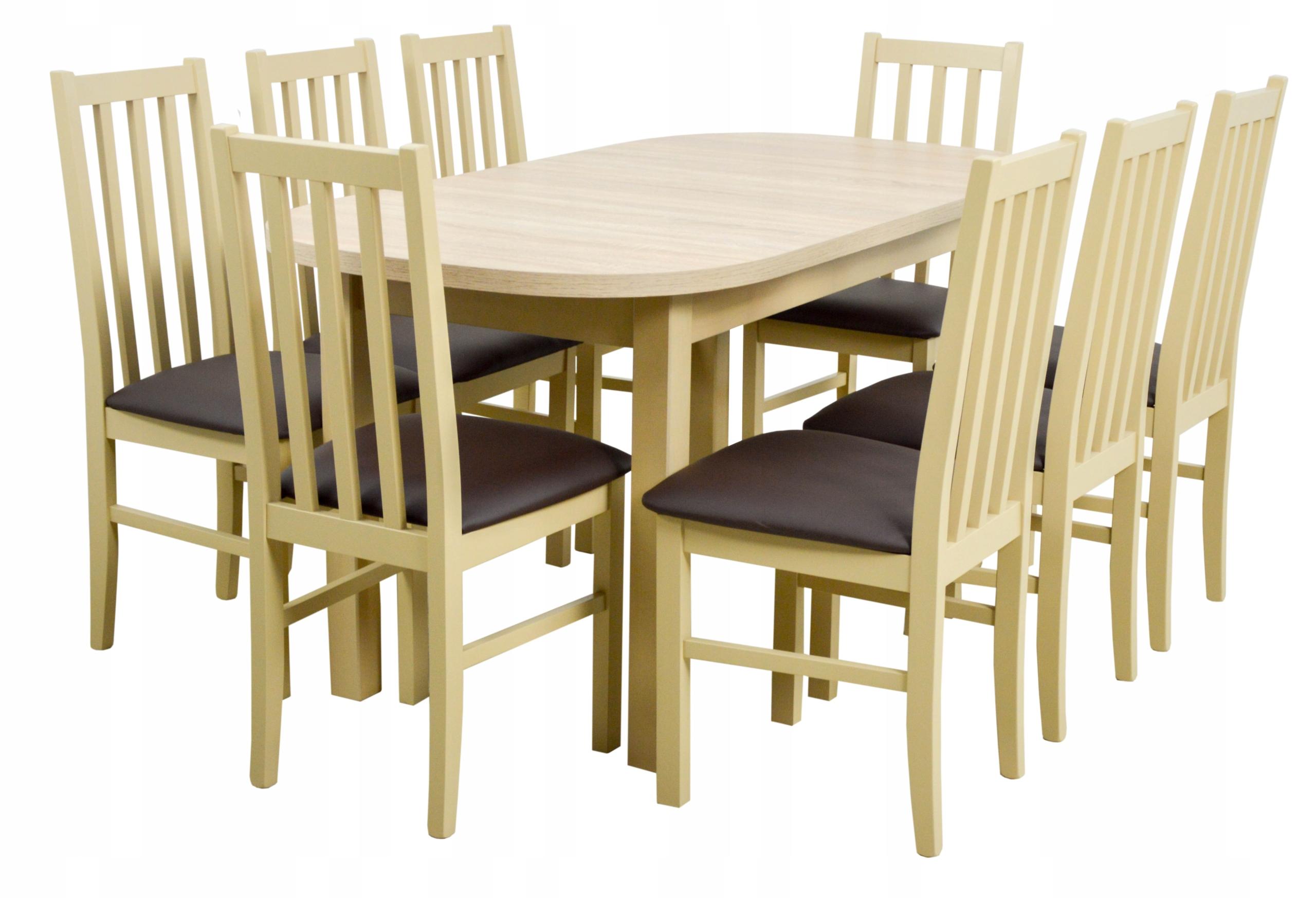 8 stoličiek a skladanie stola 80x160/200 cm + POŠTOVNÉ