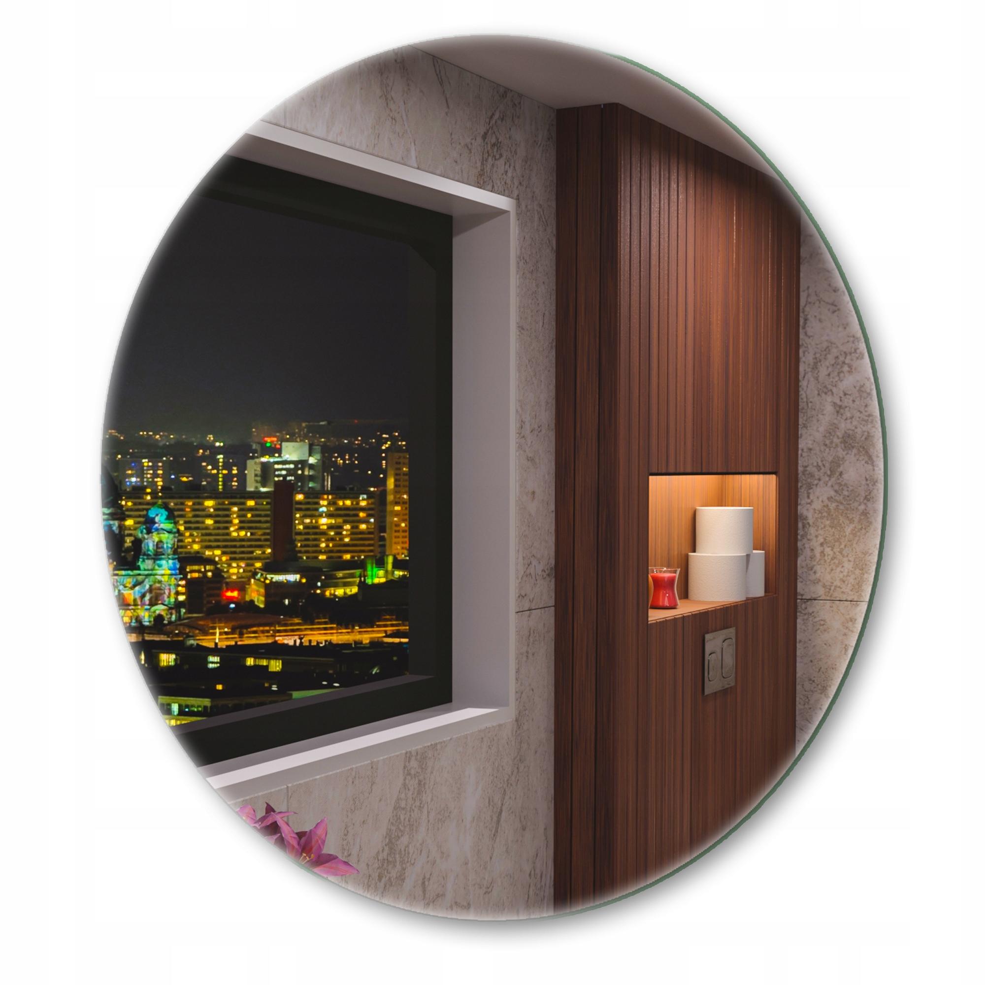 Круглое зеркало 80см с подсветкой для ванной