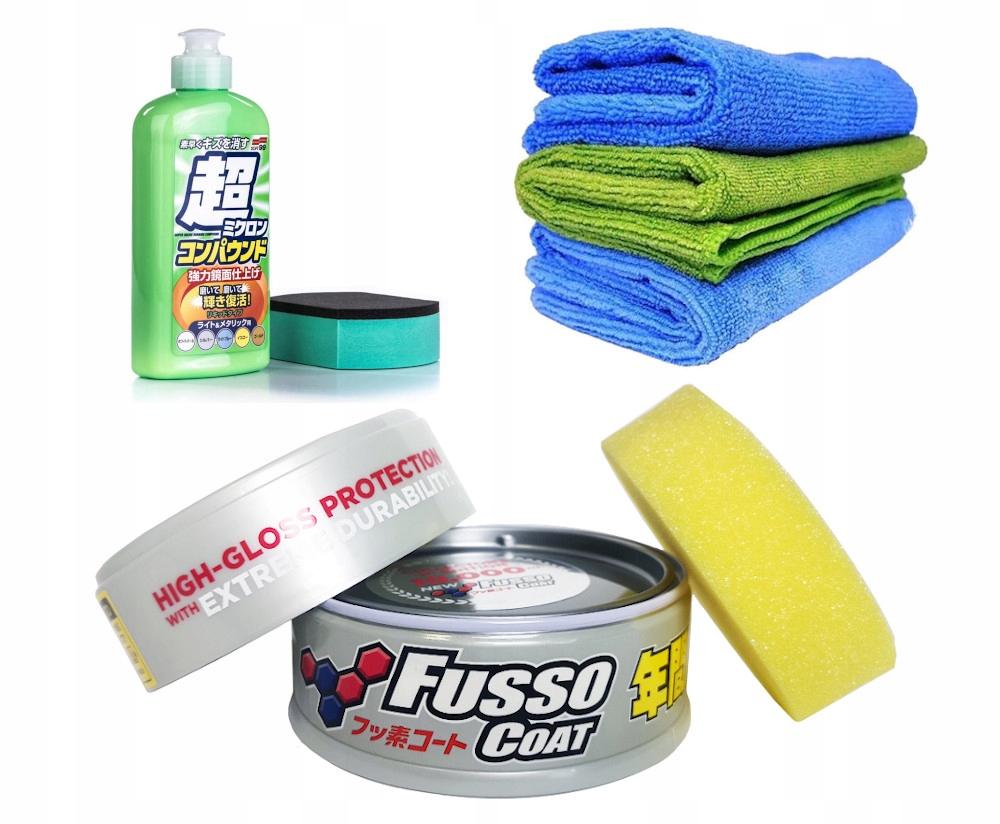 Soft99 twardy wosk Fusso Light Cleaner Mikrofibry