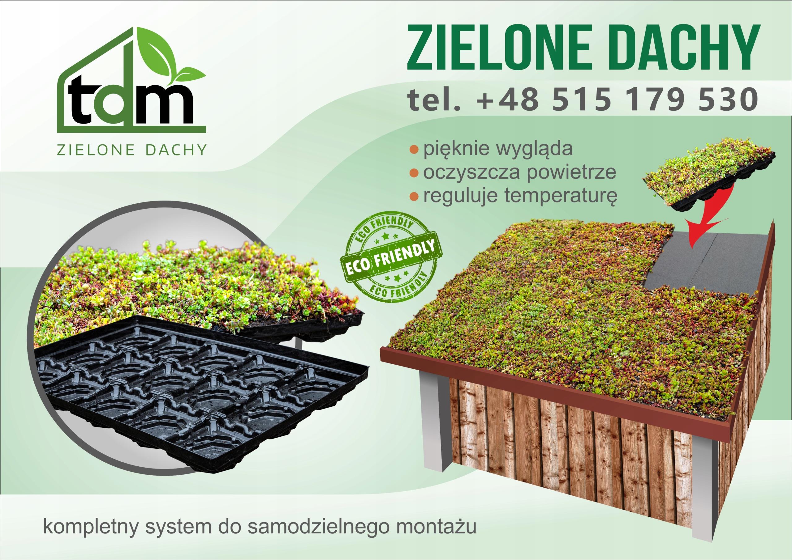 Зеленая крыша - Очиточные панели - поддон 10 м²