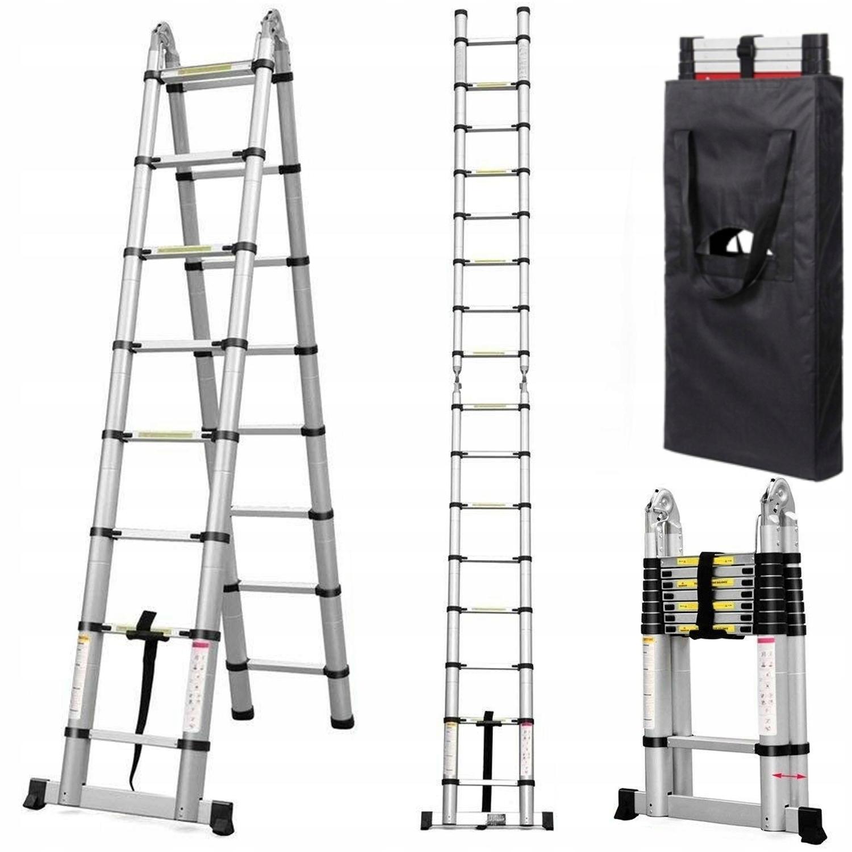 Лестница телескопическая 2 президент Higher 3 ,80м 2x6