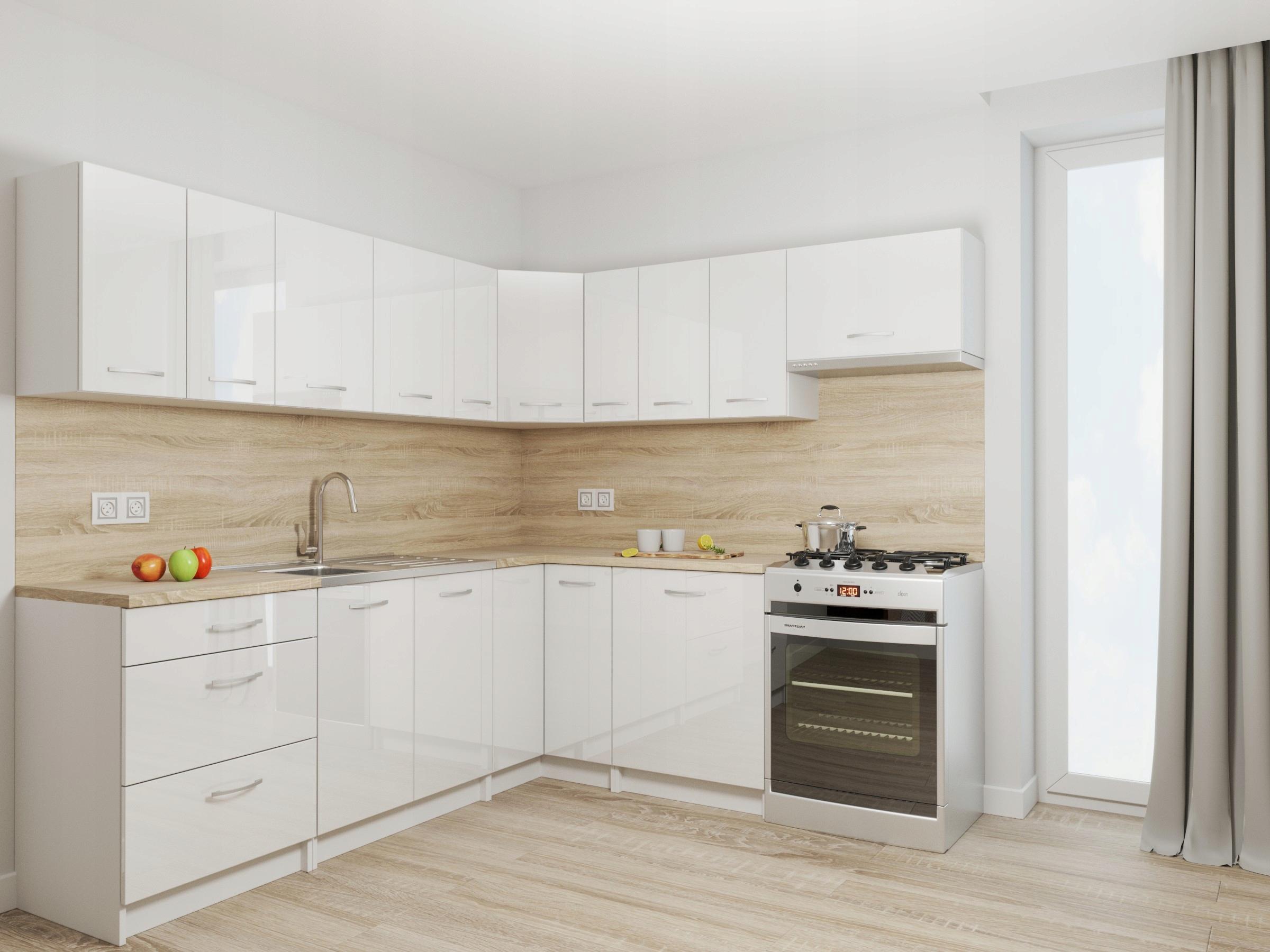 Комплект кухонной мебели Rhodes White GLOSS + столешница