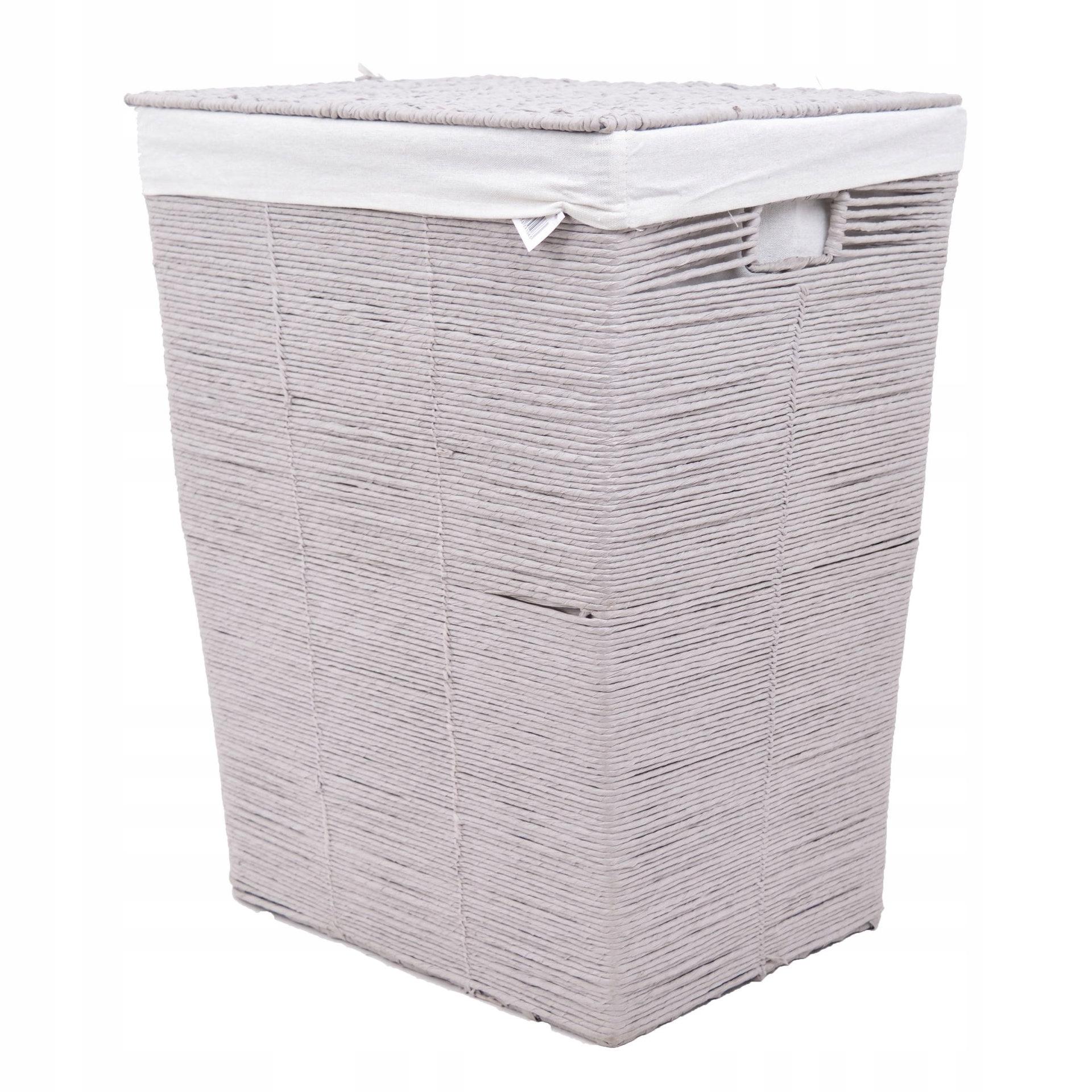 Prútený kôš na prádlo sivá nádoba pre kúpeľňu