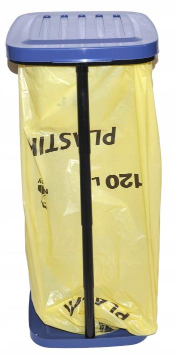 Корзина контейнер для мусора сегрегации 120 л желтый
