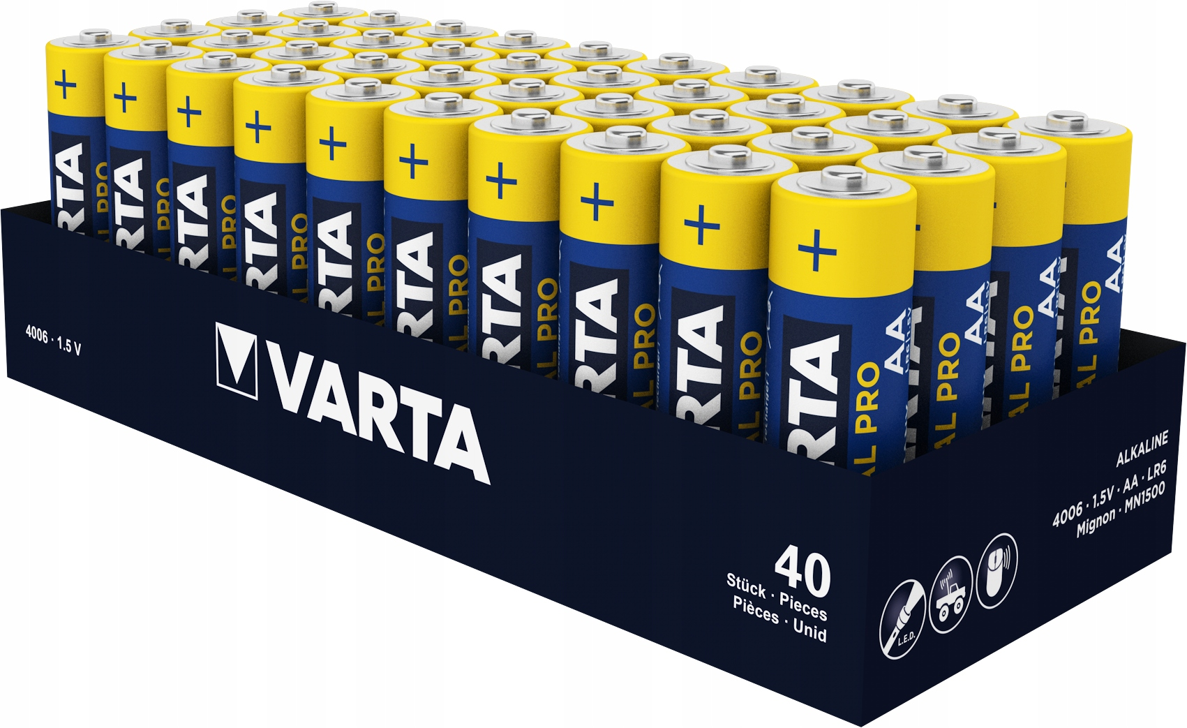 40x BATERIE VARTA INDUSTRIAL LR6 R6 AA