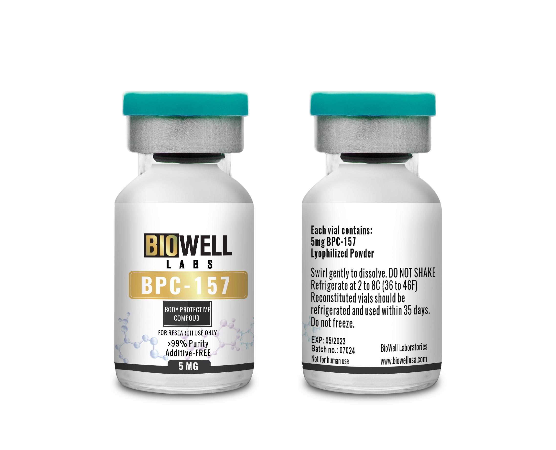 BPC 157 5MG BIOWELL LABS Пептид для исследований