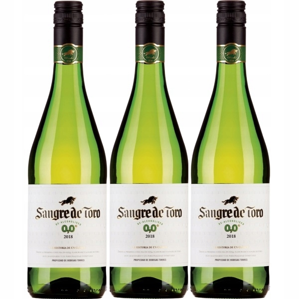 Wino Hiszpania Sangre De Toro White 0% zestaw 3win