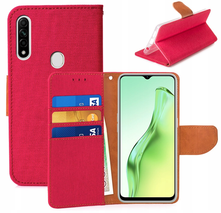 Etui Portfel Canvas Do Oppo A31 2020