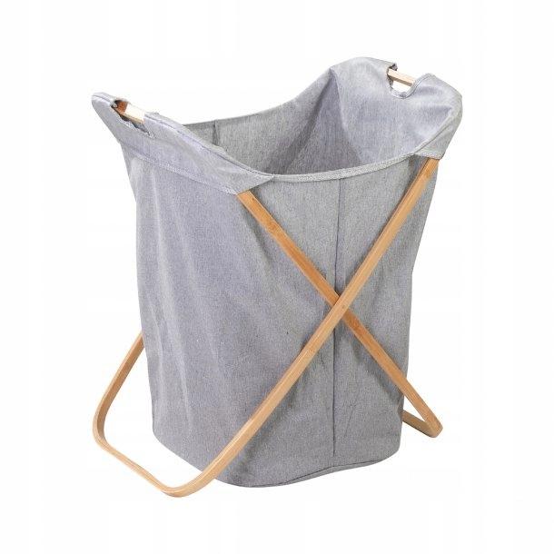 Skladací bambusový kôš na prádlo