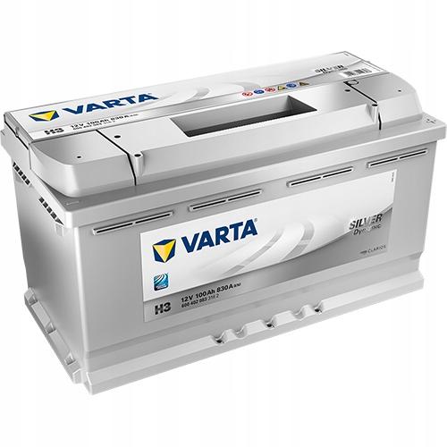 аккумулятор varta silver dynamic h3 100ah 830a
