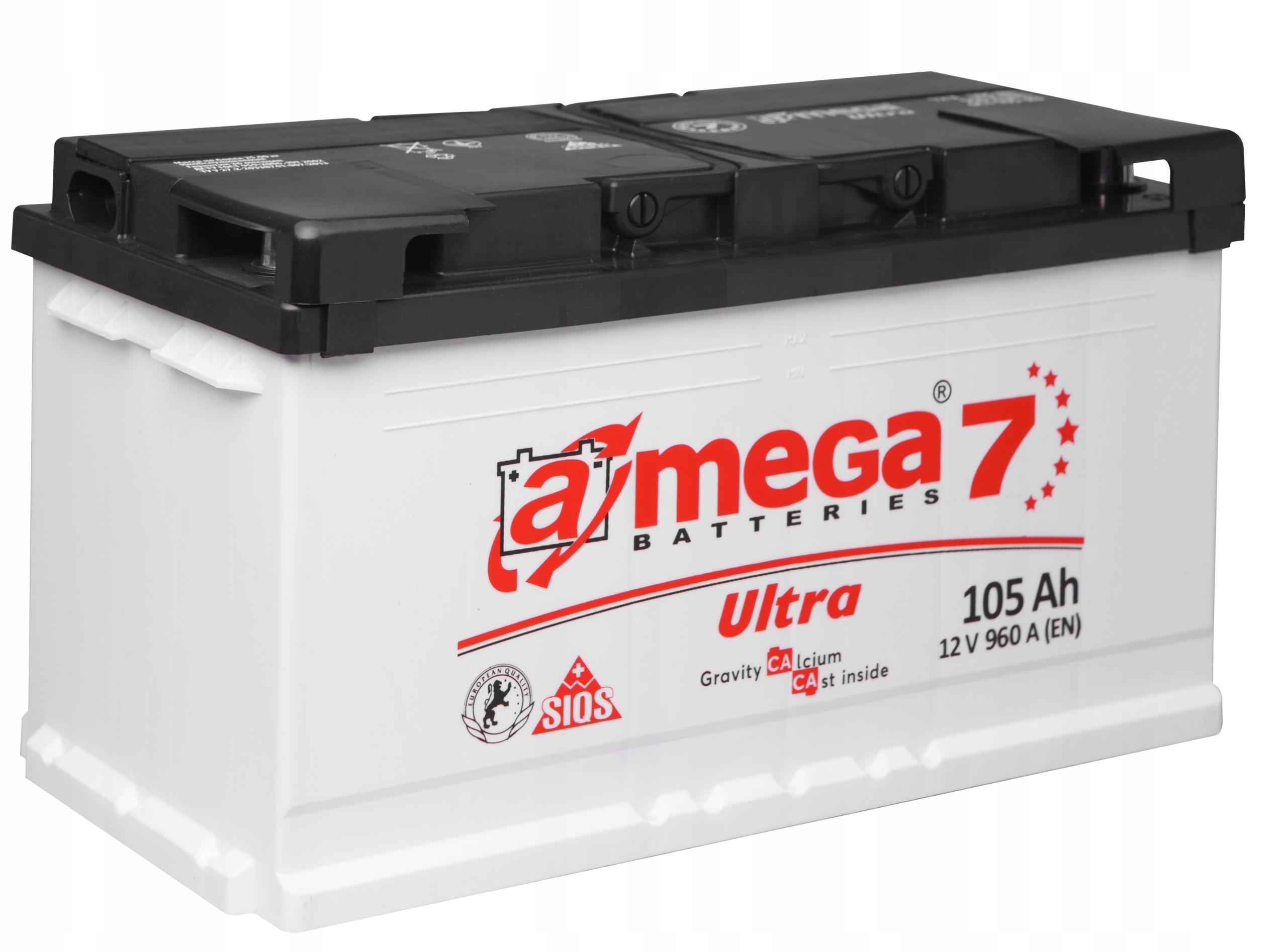 аккумулятор amega ultra m7 12v 105ah 960a