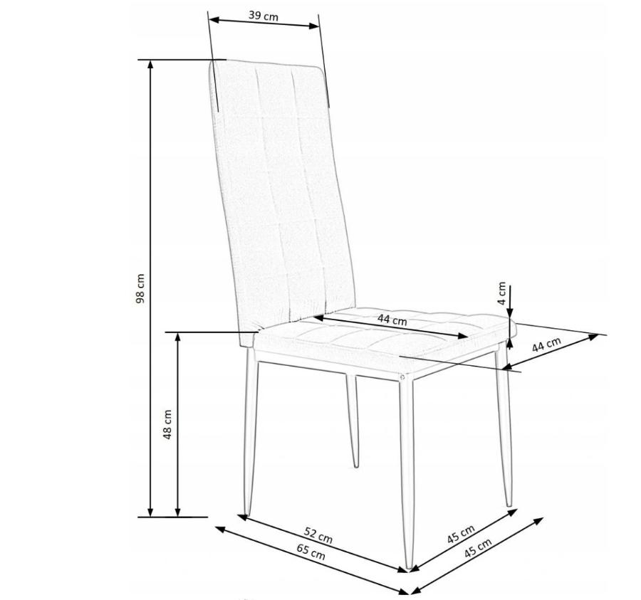 Krzesło Tapicerowane Pikowane Ciemny Zielony Welur Głębokość mebla 65 cm
