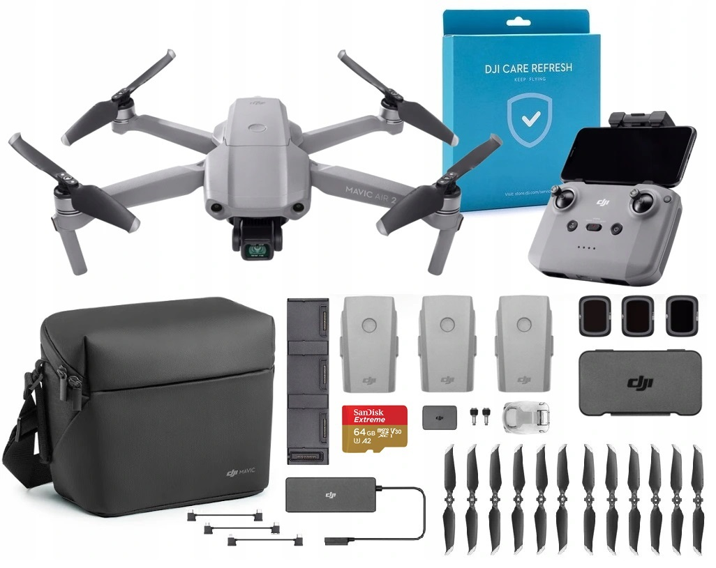 DJI Mavic Air 2 Combo + DJI Care Refresh + 64 GB