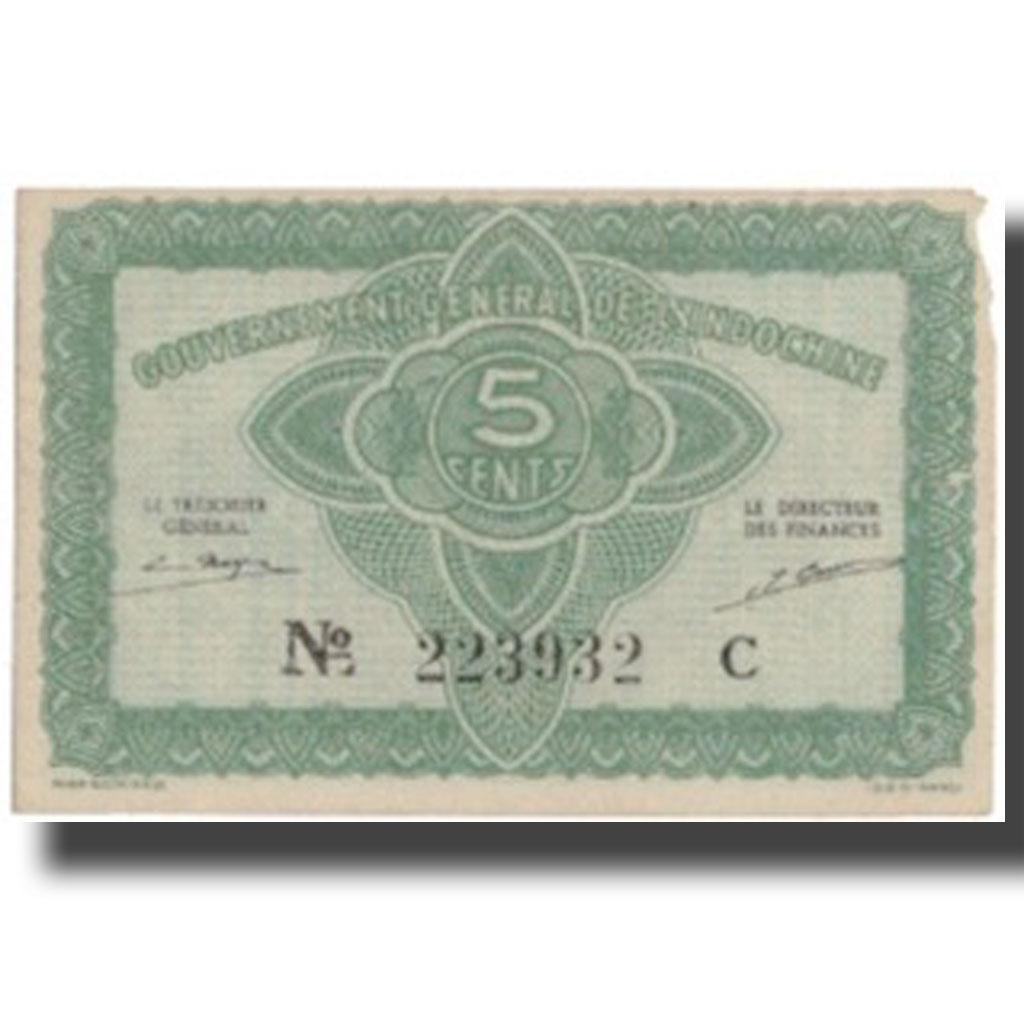 Банкнота, FRENCH INDOCHINES, 5 центов, без даты (1