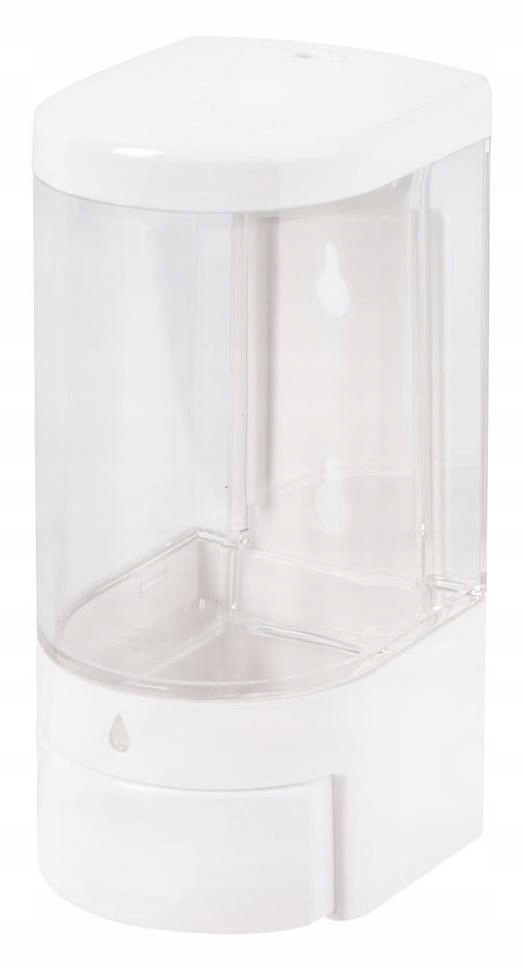 Dávkovač tekutého mydla na dezinfekciu biely 0,5L