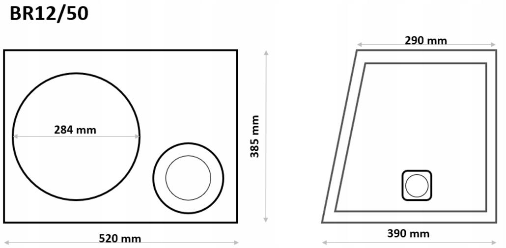 Skrzynka BR12/50-B obudowa bass-reflex subwoofera Marka Inna