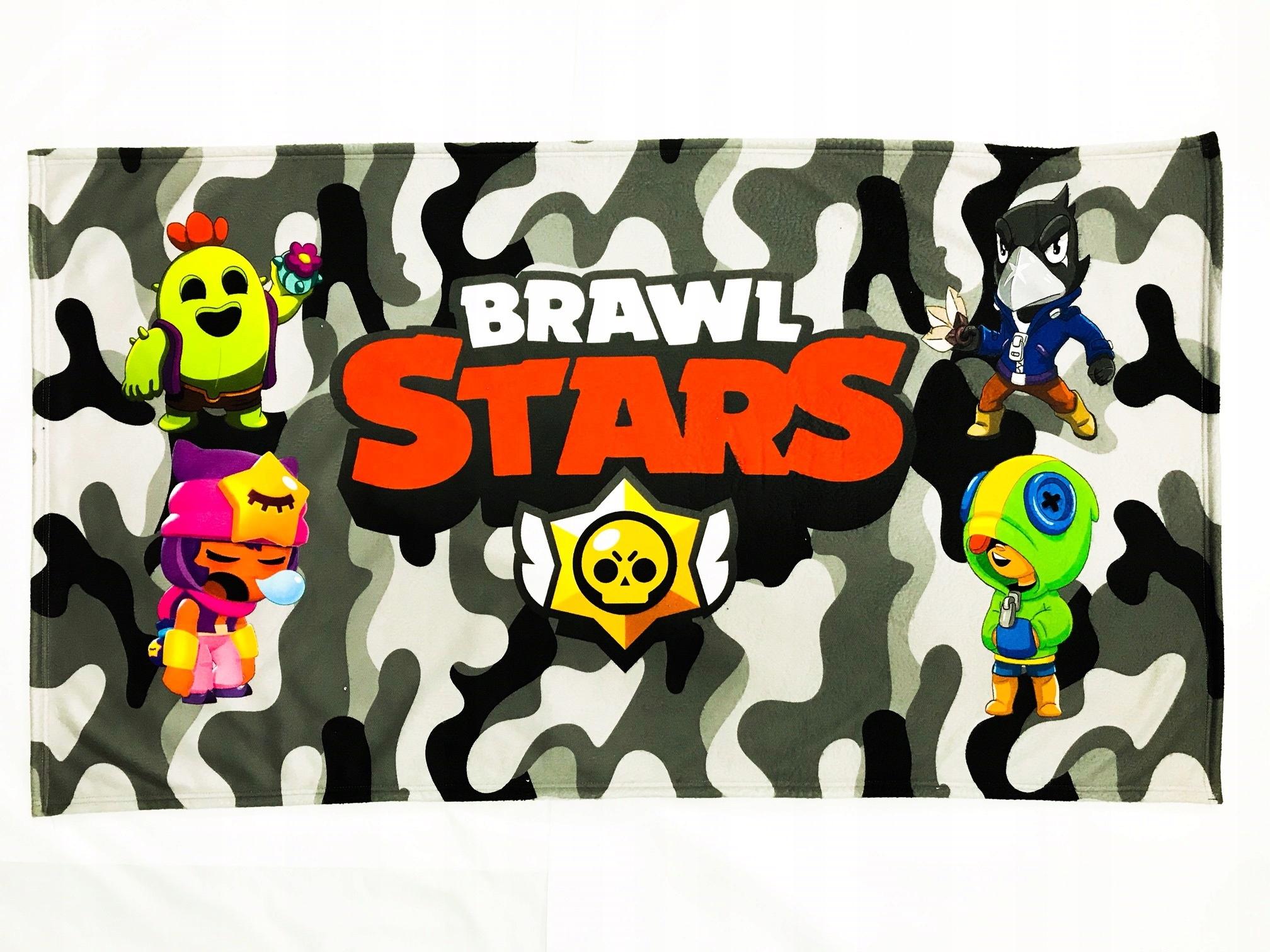 BRAWL STARS vzor plážovej osušky B6 rozmer 75x135