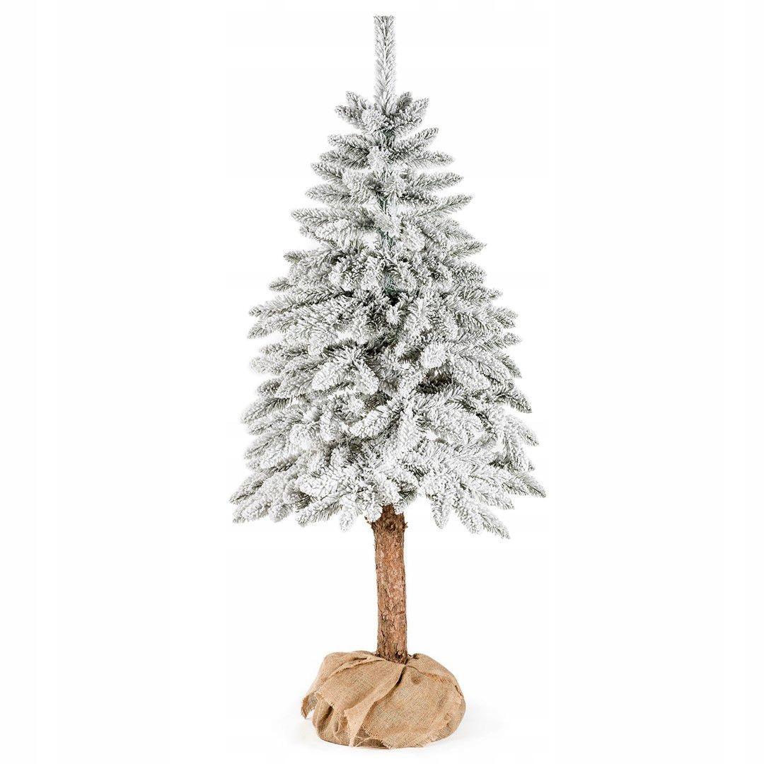 DecoKing vianočný stromček umelý jedľový kmeň snehu 180