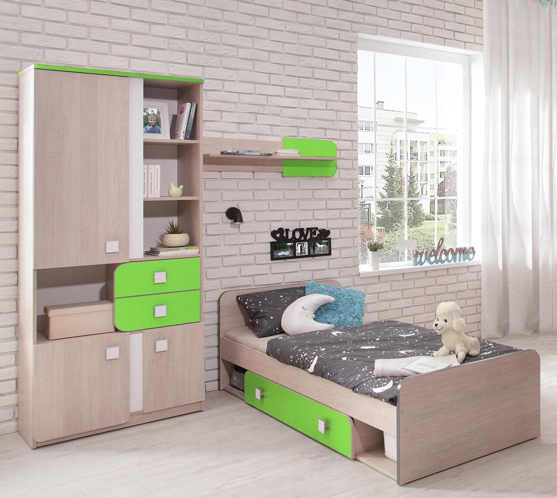 детская мебель книжный шкаф кровать для мальчиков Duo P