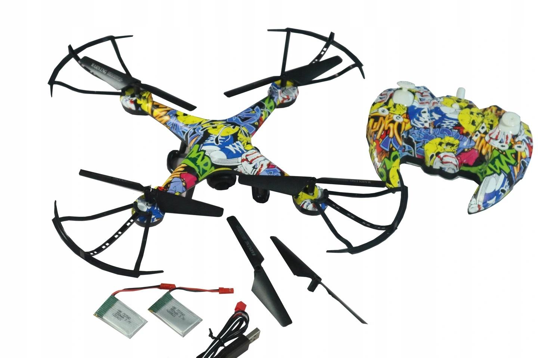 DRON DH900 KAMERA WiFi RC FPV DUŻY 3xAKU GRAFFITI