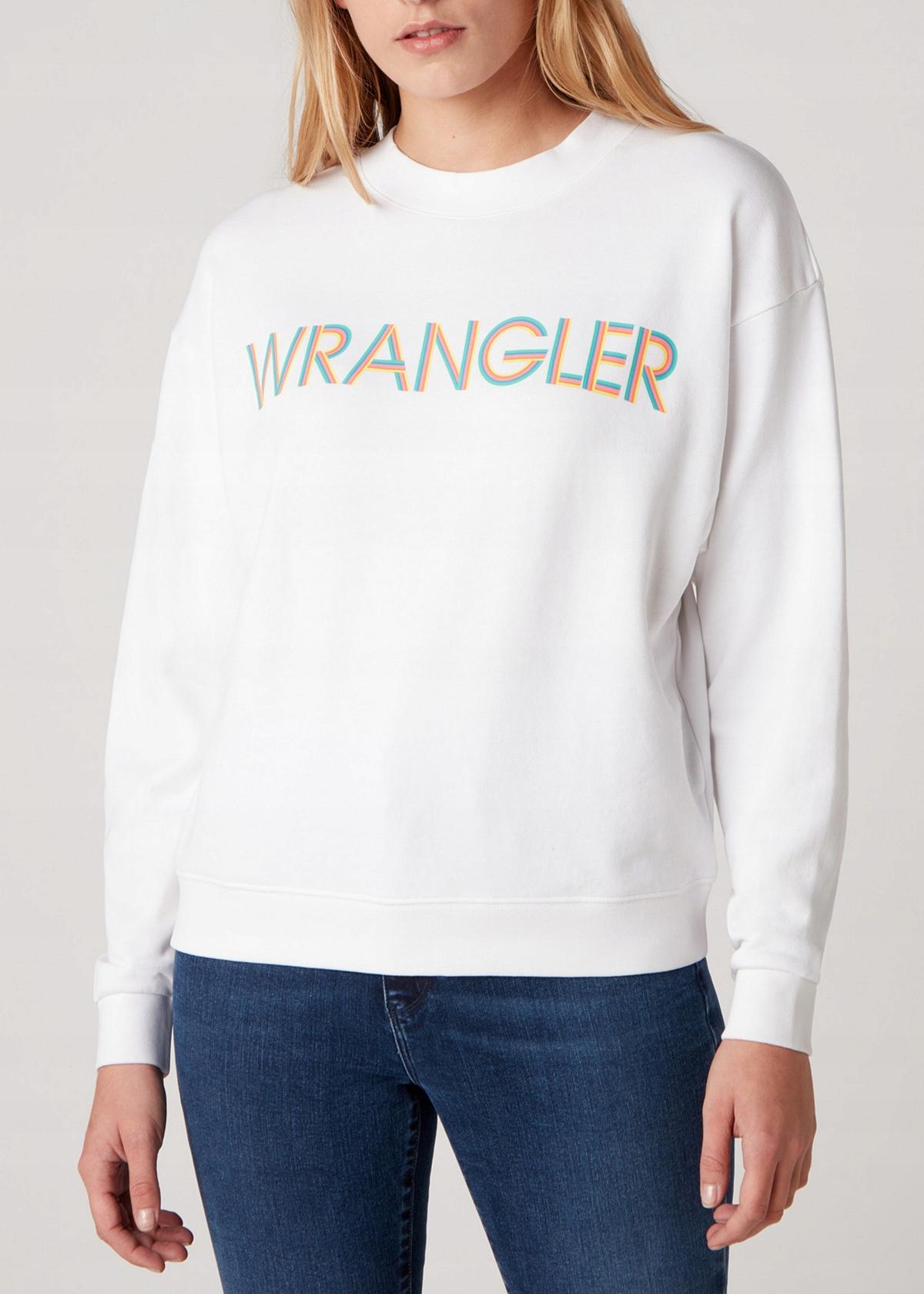 Svetr Wrangler Retro Logo - biely