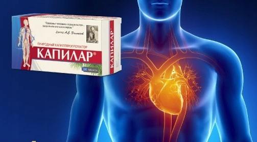 Kapilar 200 tab x 0,25 g Krążenie Serce Postać tabletki
