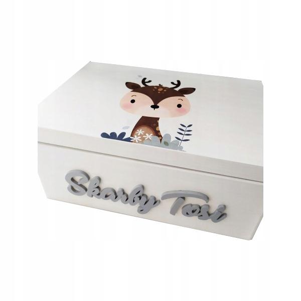 Ящик для детских сокровищ - олень, шкатулка