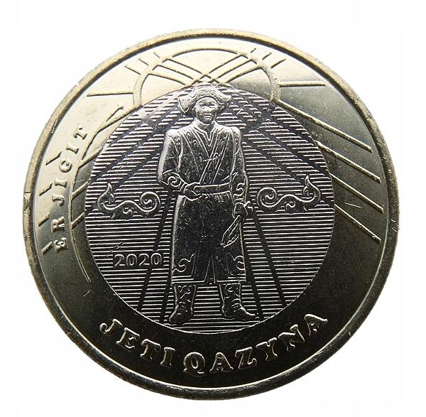 КАЗАХСТАН 100 ТЕНГЕ 2020 JIGIT BIMETAL MENNICZA
