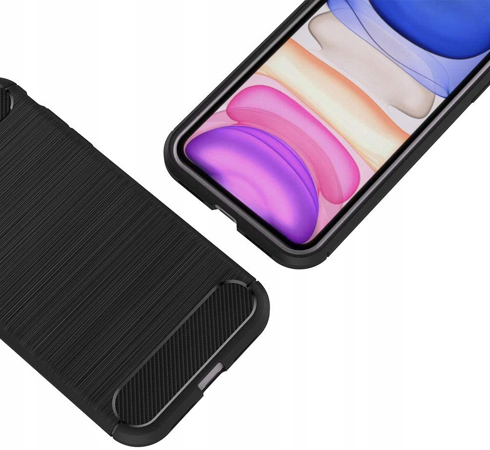 ETUI do iPhone 11 KARBON PANCERNE CASE + SZKŁO 9H Producent INNY