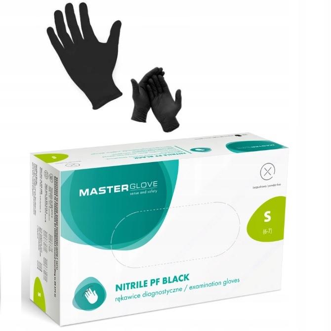 Перчатки нитриловые S ЧЕРНЫЙ 100 перчатки MASTER