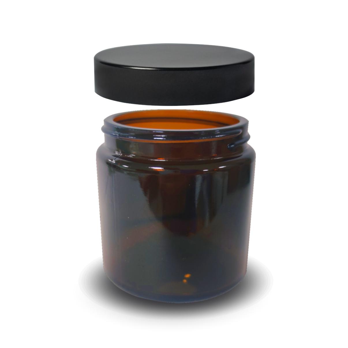 Słoik, pojemnik szklany brązowy 120 ml PREMIUM