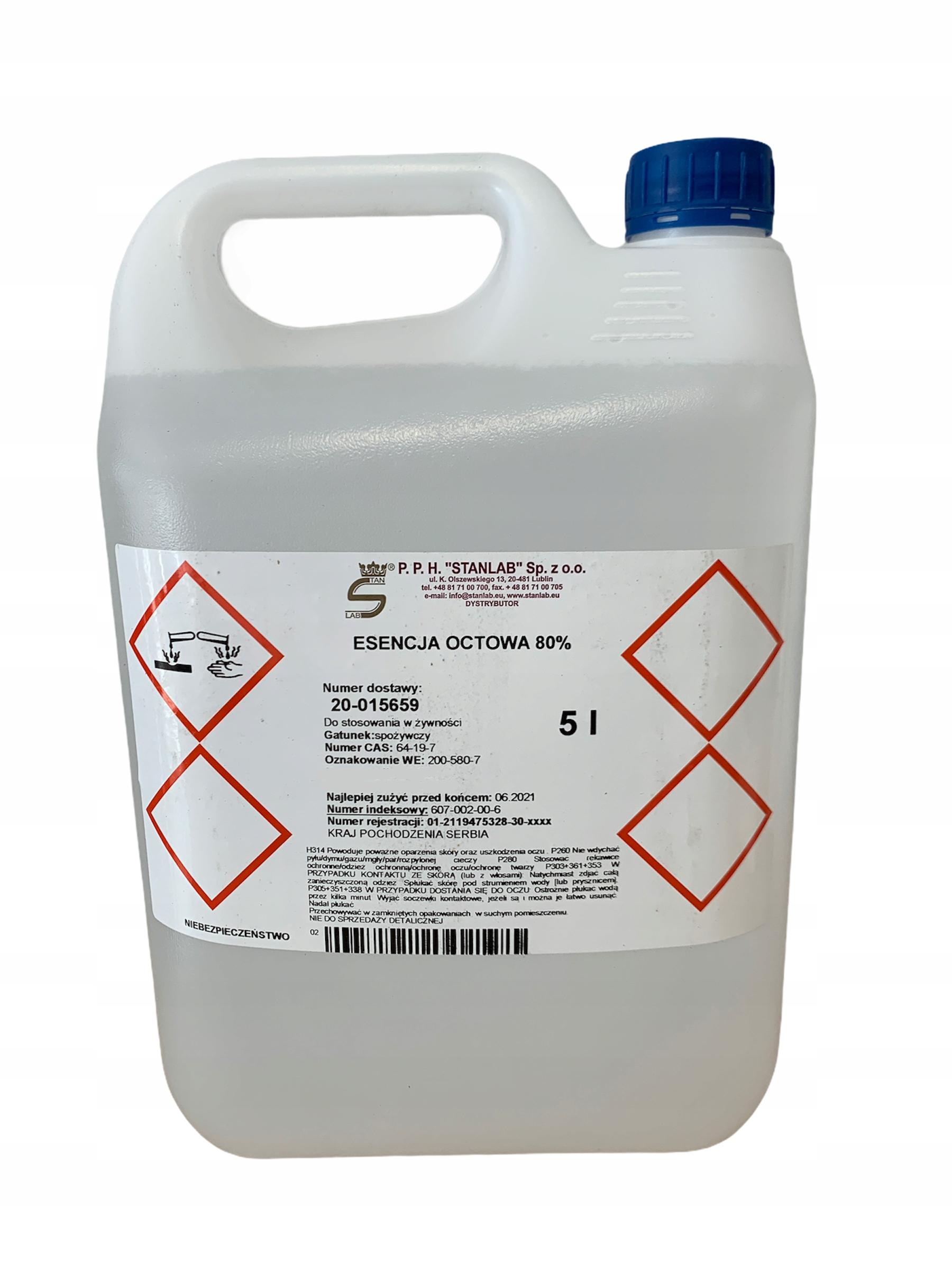 Уксусная эссенция 5л Stanlab varroa уксусная кислота