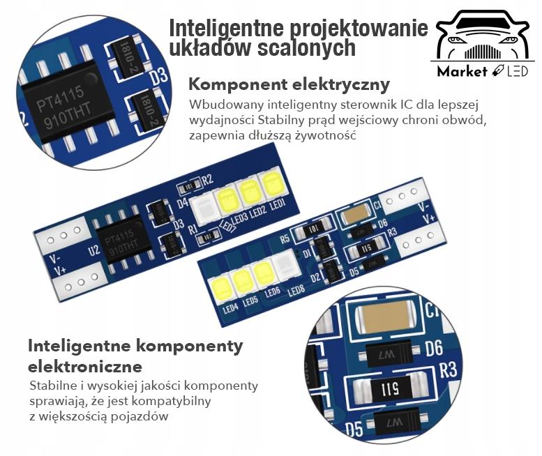 W5W/T10 -Dual COLOR! Blue+White! Dwukolorowe! Rodzaj LED