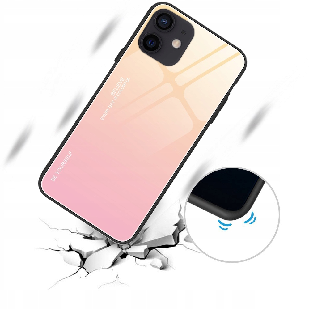 Etui do iPhone 12 Case Glass + Szkło 9H Dedykowany model iPhone 12