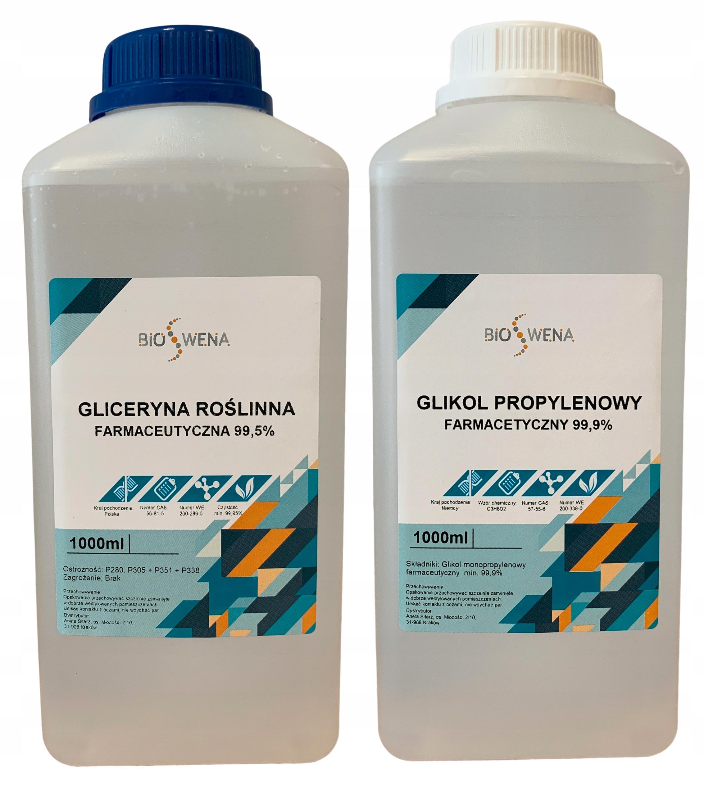 GLICERYNA ROŚLINNA + GLIKOL PROPYLENOWY FARMAC 2L