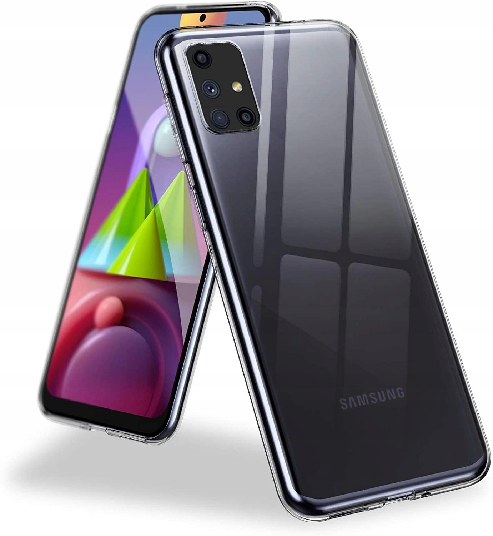 Etui do Samsung Galaxy M51 Clear Case + Szkło 9H Kolor bezbarwny