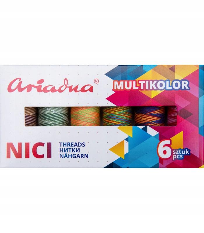 Набор ниток Multicolor EARTH Viga 80 / 150м, 6 шт.