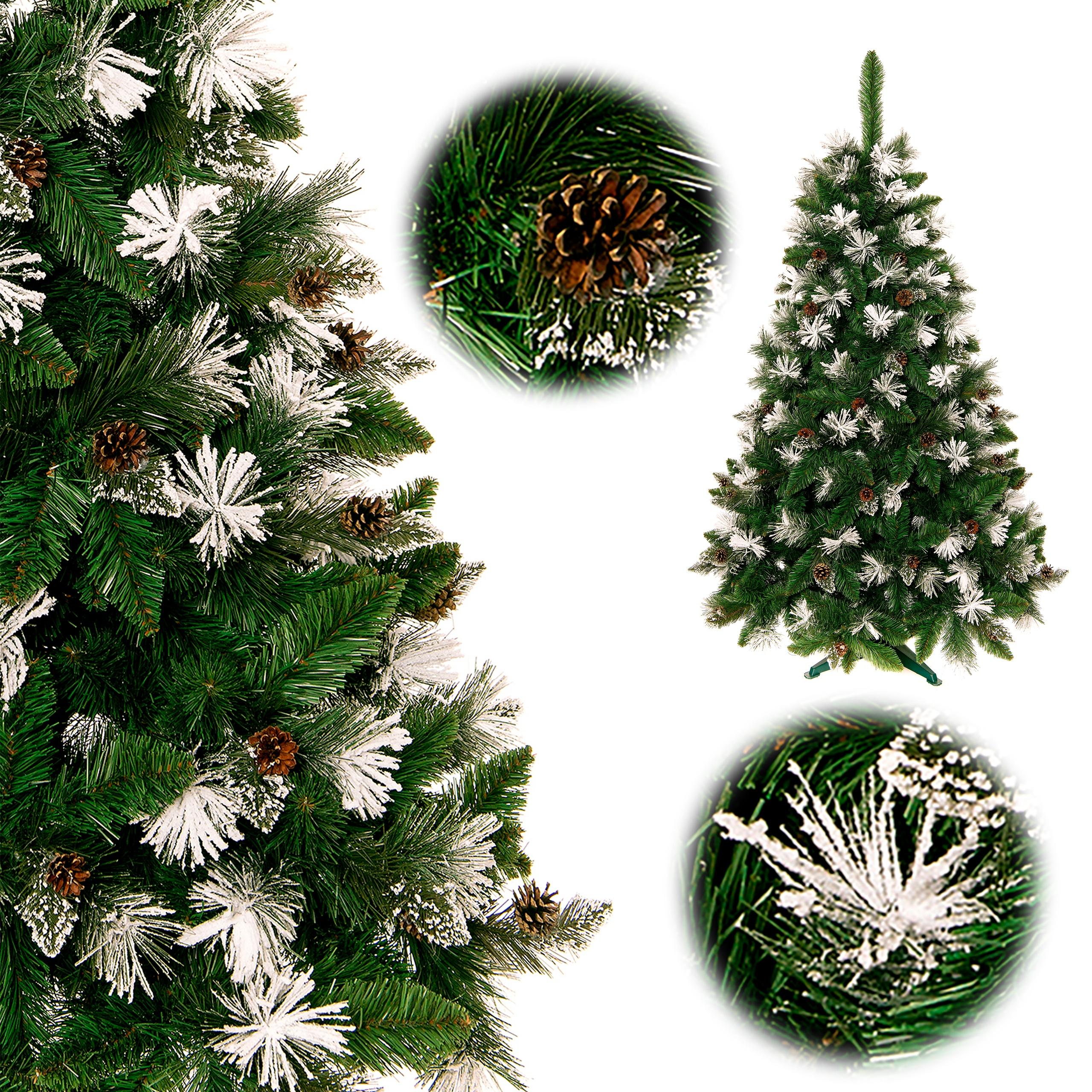 Umelý vianočný stromček so zasneženými koncami 180 cm + Stojan